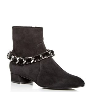Casadei Ilary Velvet-embellished Chain Suede Boots